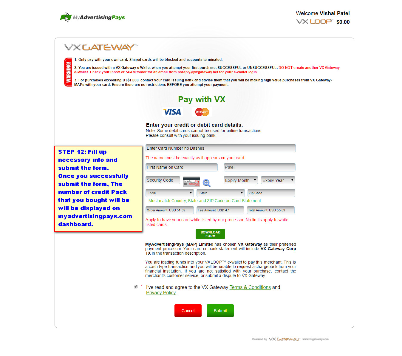 How To Buy Credit Pack In Myadvertisingpays Step 12